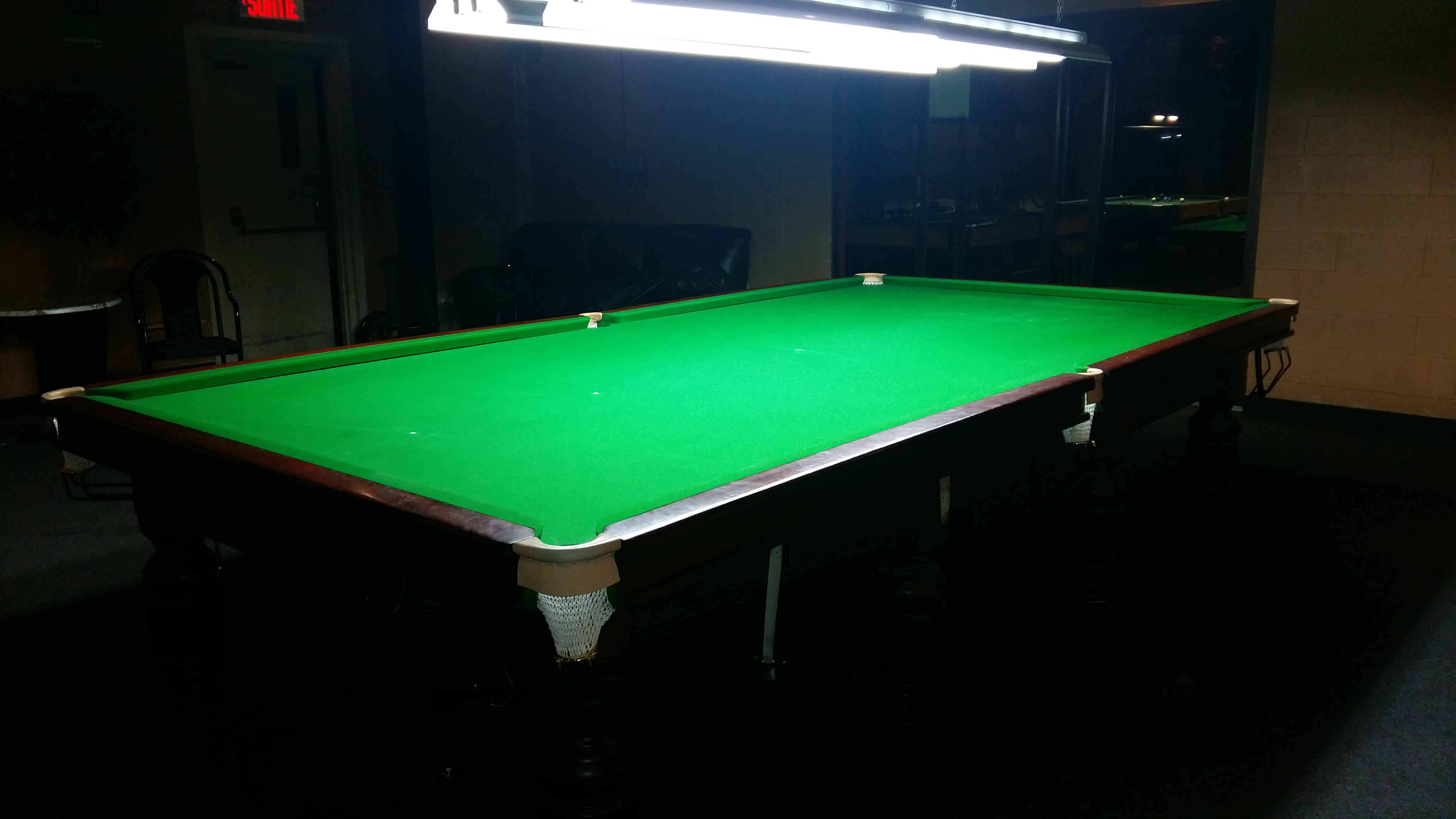 p table full riley asp snooker regis size